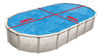 How to measure an above ground oval pool.